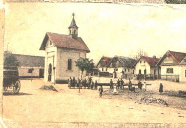 Dětenice náves - rok 1912