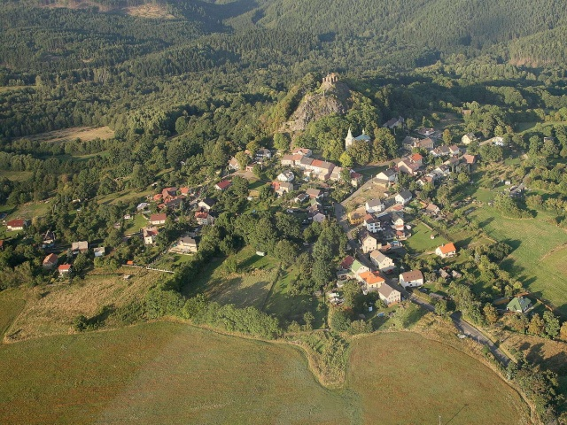 Letecký snímek Andělské Hory