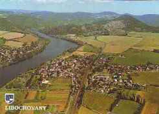 Libochovany - letecký snímek