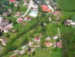 Letecký pohled na část obce Kruh