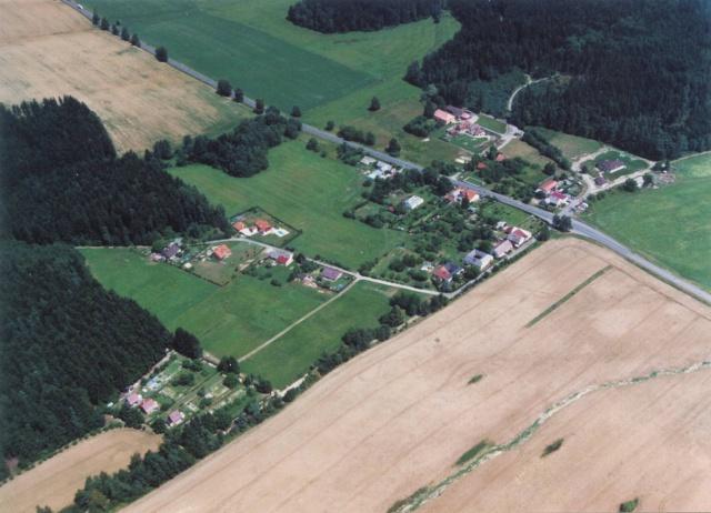 Obec Kukle-letecký pohled