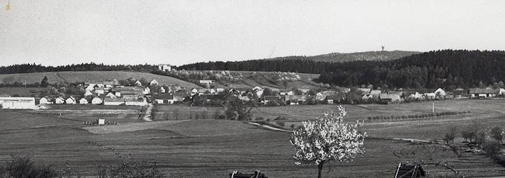 Těškov (okr. Rokycany) .... foto (asi) z druhé poloviny 60. let 20. století