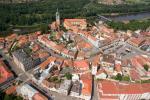 Mělník - letecký pohled na město