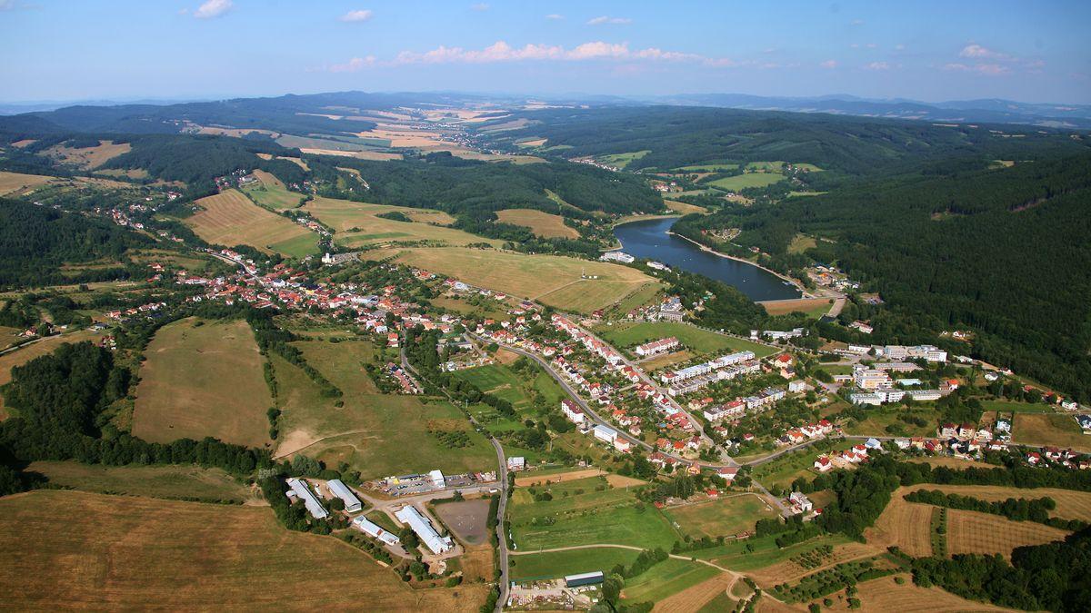 Letecký snímek Pozlovice