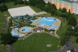Letecký pohled na Klášterecký aquapark