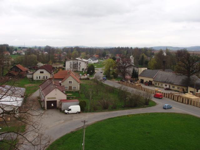 Žichlínek, pohled z kostela