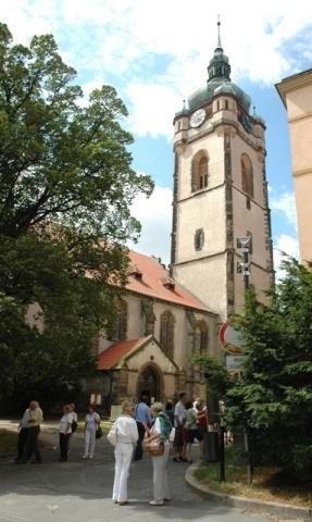 Mělník - vyhlídková věž chrámu sv. Petra a Pavla
