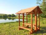 hráz nového rybníka s odpočívadlem - Moravské Prusy