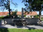 kašna na náměstí v Chlumu u Třeboně