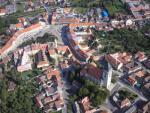 Letecký snímek města Dačice 1