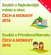 """Soutěže """"Nejkrásnější město a obec Čech a Moravy 2016"""" a """"Primátor/Starosta Čech a Moravy 2016"""""""